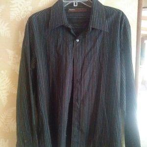 Perry Ellis mens button up collar shirt